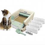Bandeja higiénica para gatos con recogida automática de deposiciones.
